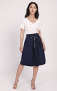 A-Line Midi Skirt in Navy by Lanti