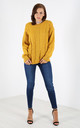 Sally Cable Knit Oversized Jumper In Mustard by Oops Fashion