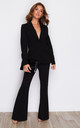 Iris Wide Led Suit Trouser Black by Girl In Mind