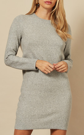 Jumper Dress In Light Grey by VM Product photo
