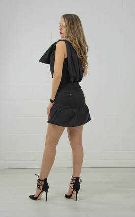 One Shoulder Fitted Top In Black by Tia Dorraine London Product photo