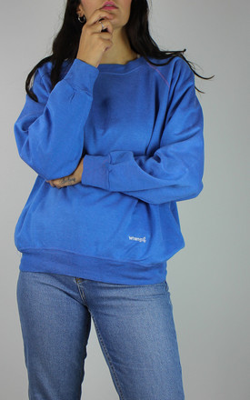 Vintage Wrangler Logo Sweatshirt In Blue by Re:dream Vintage Product photo