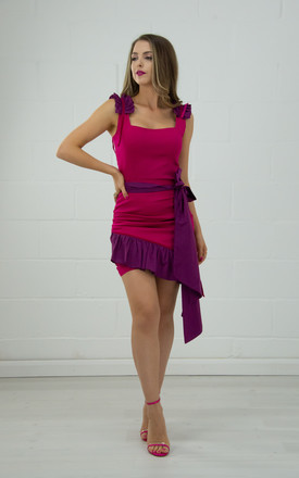 Fitted Top With Square Neckline In Pink & Purple by Tia Dorraine London Product photo