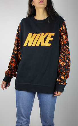 Vintage Nike Logo Sweatshirt With Camo Sleeves by Re:dream Vintage Product photo