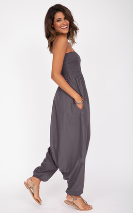Cotton Harem Jumpsuit and Hareem Pants 2 in 1 Grey by likemary