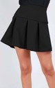 Lily Pleated Mini Skater Skirt In Black by Oops Fashion
