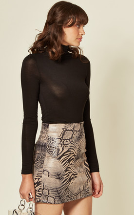 KHALEESI MINI SKIRT IN MIX & MATCH ANIMAL PRINT by Blue Vanilla