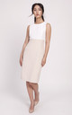 Beige dress with a classic cut, summer day dresses by Lanti