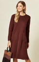 Oversized Tunic Jumper Dress in Burgundy by CY Boutique
