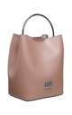 PINK BUCKET BAG WITH METAL HANDLE by BESSIE LONDON