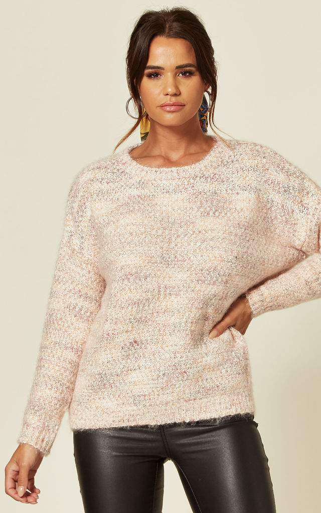 Mohair Effect Jumper in Pink by CY Boutique