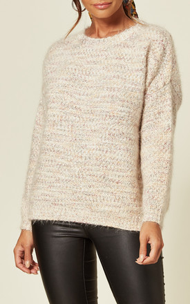 Mohair Effect Jumper in Cream by CY Boutique