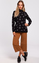 Black Oversized Sweatshirt with Star Print by MOE