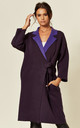 Reversible Oversized Longline Cardigan in Purple by CY Boutique