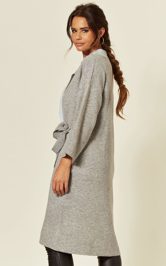 Reversible Oversized Longline Cardigan in Grey by CY Boutique