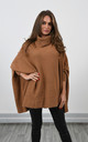 Oversized High Neck Jumper in Camel by Lucy Sparks