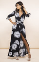 Dove Dress in black and white peony by Dancing Leopard