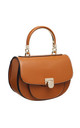 FLAP OVER TOP HANDLE SADDLE BAG IN TAN by BESSIE LONDON