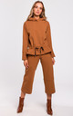 Caramel Hoodie with Drawstring Detail by MOE
