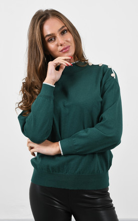 Green High Neck Jumper by Lucy Sparks