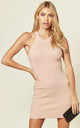 Knitted Bodycon Mini Dress in Light Pink by CY Boutique