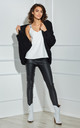 Open Front Cardigan in Black by By Ooh La La