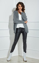 Open Front Cardigan in Graphite Grey by By Ooh La La