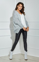 Open Front Cardigan in Grey by By Ooh La La