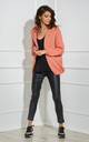 Open Front Cardigan in Coral by By Ooh La La