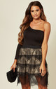 Layered Floral Lace Skirt in Black by CY Boutique