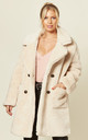 Jacqueline Oversized Teddy Coat in Beige by De La Creme Fashions