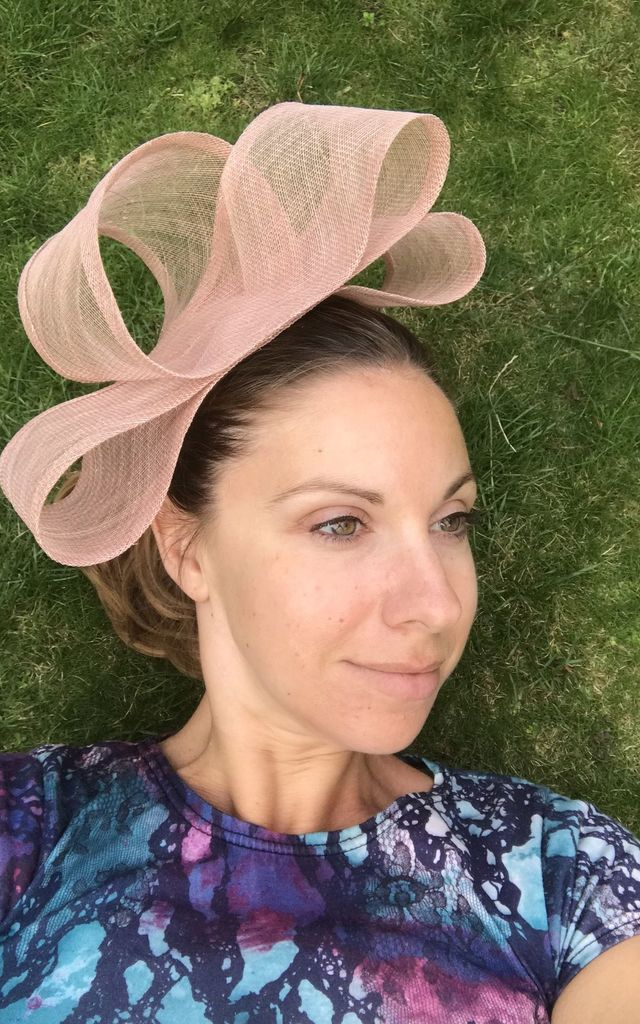Wedding Fascinator Hat in Nude Blush by TwisT Fashion