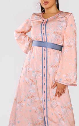 Daniella Long Sleeve Maxi Dress in Pink/Lilac by Diamantine