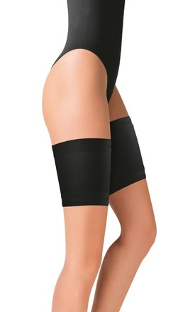 Black Anti-Chafing Protection Thigh Bands by BB Lingerie