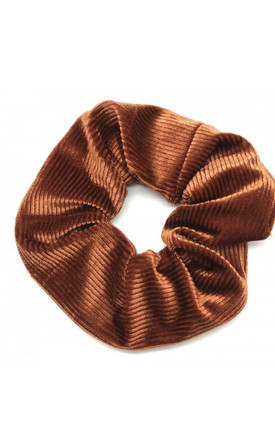 Burnt Orange Velvet Scrunchie by LULU IN THE SKY