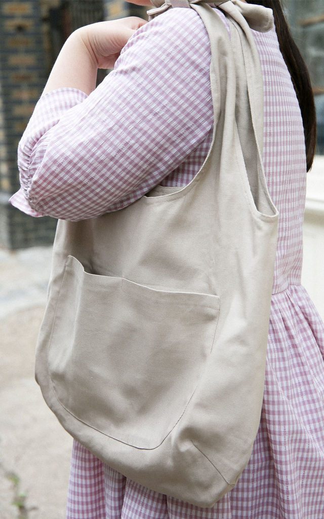 Big Canvas Grocery Bag in Natural by Darla