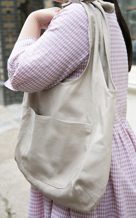 Big Canvas Grocery Bag In Natural by Darla Product photo