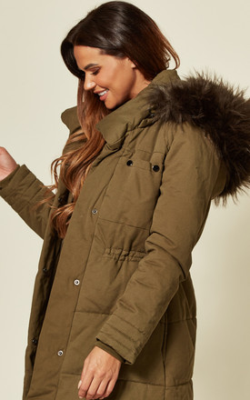 Khaki Parka With Khaki Fur Jacket by EDGE STREET