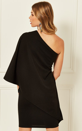 One Shoulder Dress in Black by Bella and Blue