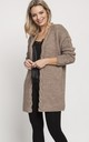 Fashionable Cardigan with Elegant Finish in Brown by MKM Knitwear Design