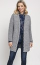 Fashionable Cardigan with Elegant Finish in Grey by MKM Knitwear Design