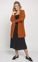 Fashionable Cardigan with Elegant Finish in Camel by MKM Knitwear Design