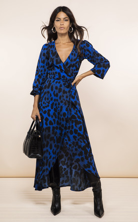Jagger Dress In Blue Leopard by Dancing Leopard Product photo