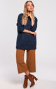 Oversized Turtleneck Jumper in Navy Blue by MOE