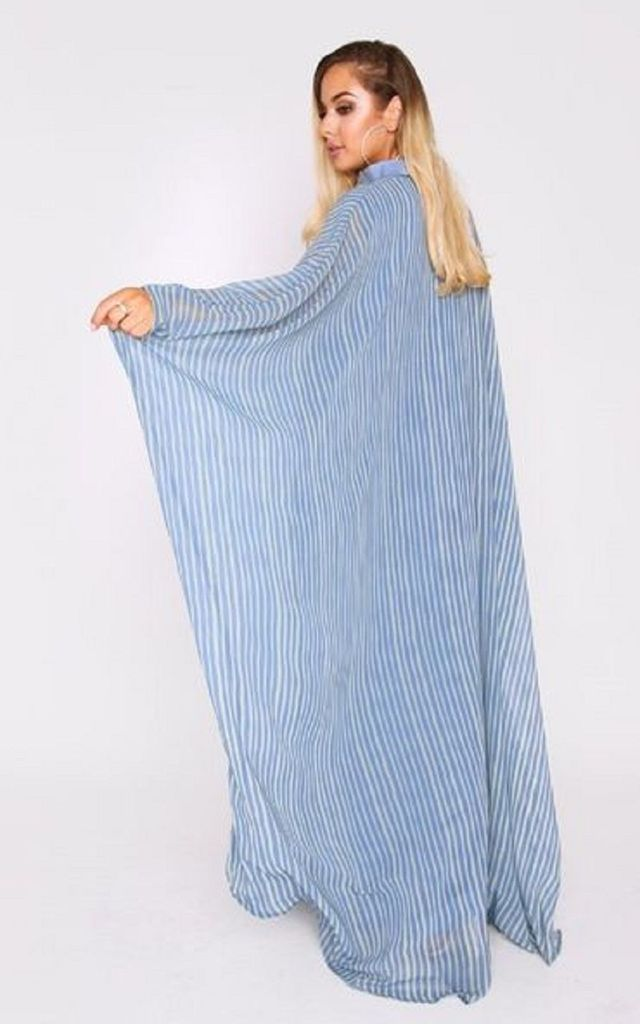 Anouchka Maxi Kaftan in Blue Print by Diamantine