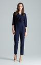 Wrap Front Jumpsuit with 3/4 Sleeves in Navy by FIGL