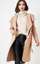 Naomi Waterfall Shawl Collar Coat In Camel by love frontrow