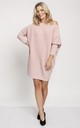Cold Shoulder Jumper Dress in Pink, Christmas jumper by MKM Knitwear Design