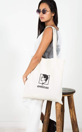 Cotton Tote Bag With Avelinas Printed Logo by Avelinas Vintage Product photo