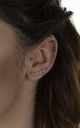 Cubic zirconia burst white gold dipped ear climbers by EPITOME JEWELLERY